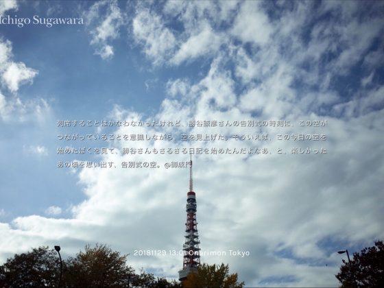 「今日の空」テキスト復活